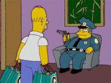 Homer aborrecido loja 18x18 wiggum