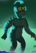 Homer as the Amphibian Man