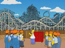 Homer montanha russa carpinteiros