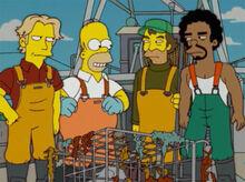 Homer tripulação pelicano podre