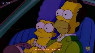 I Simpson Debby Boone Homer and Marge - You Light Up My Life (Sub Ita)