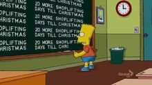 A Tree Grows in Springfield Chalkboard Gag