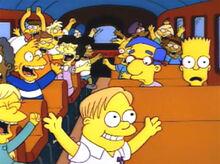Crianças palmas milhouse ônibus