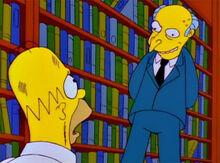 Homer suplicante burns