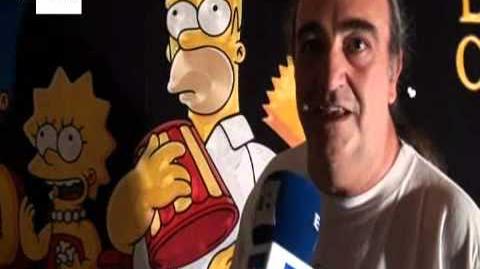 Personagens dos Simpsons feitos com mais de 20 km de fios.