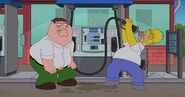 Peter and homer drinking gas