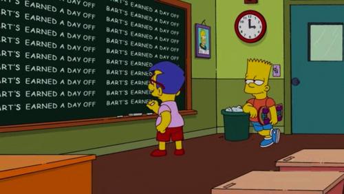 Bart quadro milhouse frases