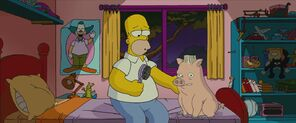 Homer and Spiderpig
