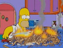 Homer maquete montanha russa fogo