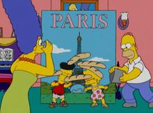 Simpsons foto paris fake