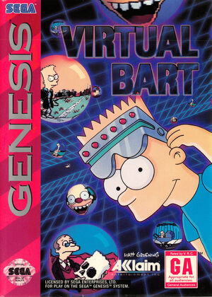 Virtual Bart Genesis front cover