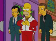 Homer mafia louie legs