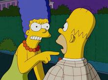 Marge amnesia briga homer