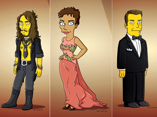 Russel Brand, Halle Berry e Ricky Gervais