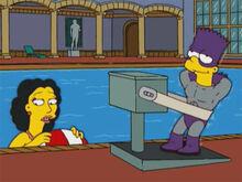 Bartman vibração garota piscina