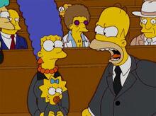Homer grita com marge funeral