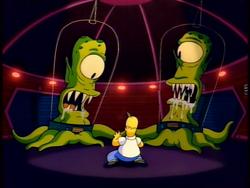 Homer porwany przez kosmitów