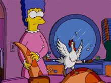 Marge frango fantasia homer