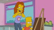 Mrs. Trunch congratulating Bart