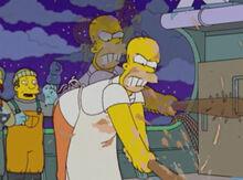 Homer batendo peixes yum yum