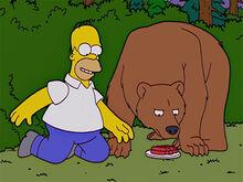 Homer urso amigos 3 salsichas
