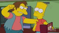 Nelson próbuje uderzyć Barta