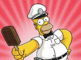 Sorvete de Marge (Com Cabelos Azuis Claros)