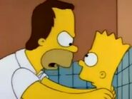 Baby bart and hairy homer