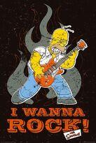 Lghr16694 i-wanna-rock-homer-simpson-poster