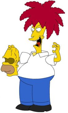 Sideshow bob dressed as homer by CPD 91