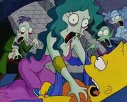 Bart Simpsons Dracula - Bart Captured by Vampire Woman