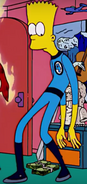 Bart as Mister Fantastic