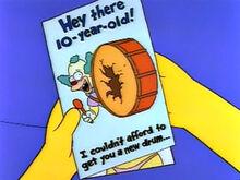 Cartão aniversário krusty capa