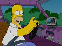 Homer rádio satélite carro
