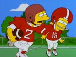 Nelson uses Bart as a ram
