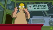 Homer chokes on the green thing