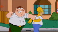 Peter punches Homer