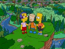 Bart milhouse boneco precipicio