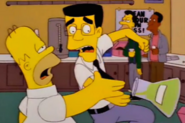 Frank Grimes Saving Homer in The Simpsons