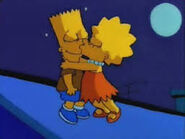 Lisa kissing Bart