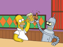 Homer e bender brindam uma duff