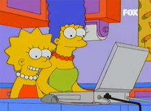 Lisa marge laptop internet