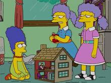 Marge patty selma crianças cigarro casinha
