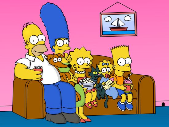 Cartoons The Simpsons on the couch 052202
