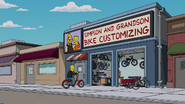 Barthood Simpson and grandson bike customizing