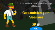 Groundskeeper Seamus Unlock Screen