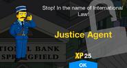 Justice Agent Unlock Screen