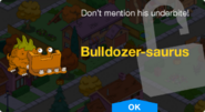 Bulldozer-saurus Unlock Screen