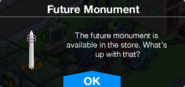 Future Monument message