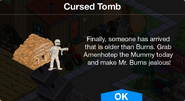 Cursed Tomb notification